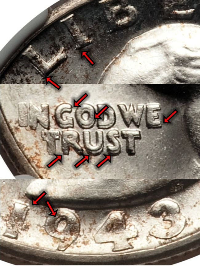 1943-S Washington Silver Quarter Doubled Die Obverse (DDO) Variety