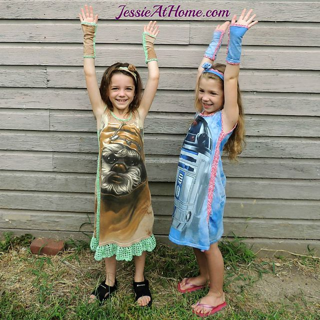 Upcycled T-Shirt Crochet Dress