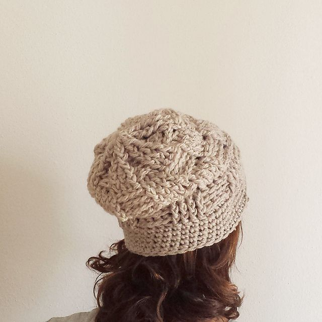 322cf85a567 Basketweave Crochet Hat Free Pattern