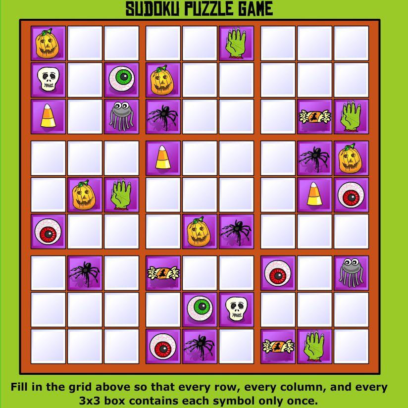 A Halloween Sudoku game board