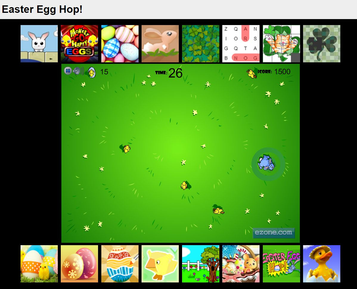 An Easter bunny chasing baby chicks