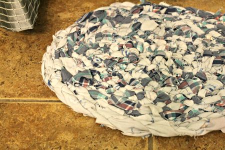 Braided Rag Rug From Fabric Ss