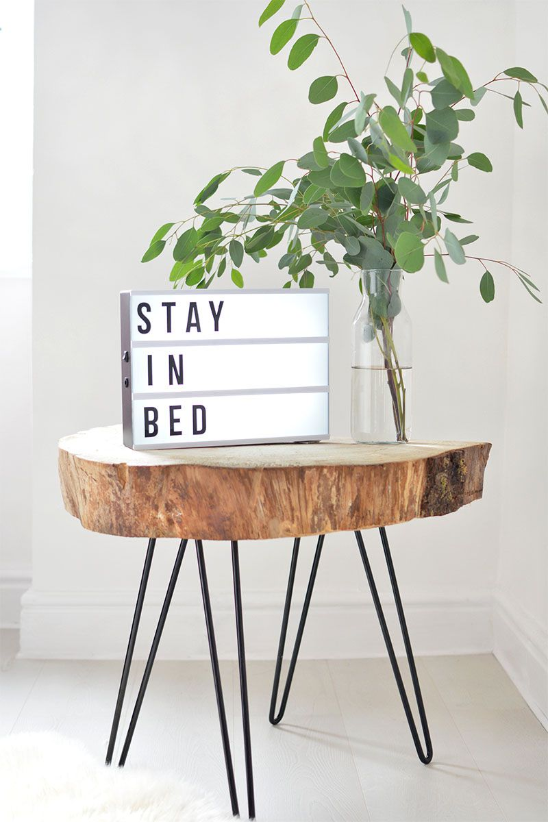 DIY Tree Slice Hairpin Leg Coffee Table