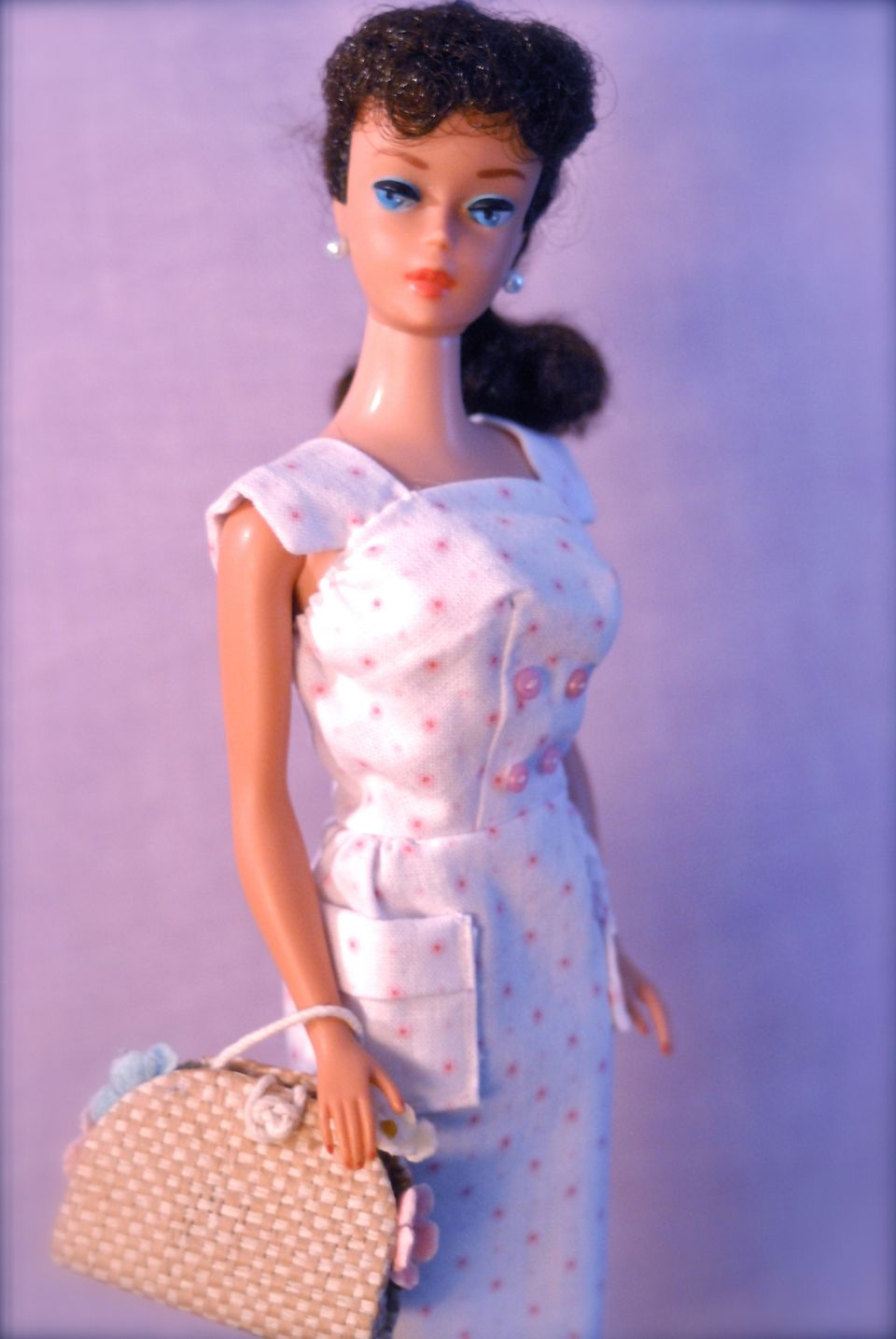 Vintage No. 6 Ponytail Barbie, Brunette
