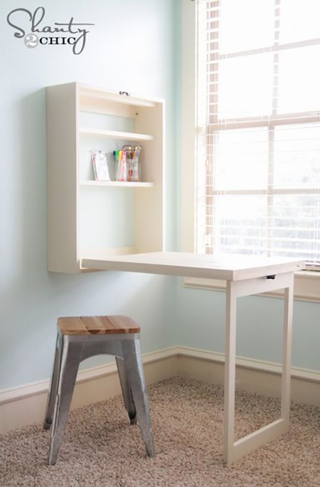 Build A Murphy Desk Diy Ideas For Small Rooms