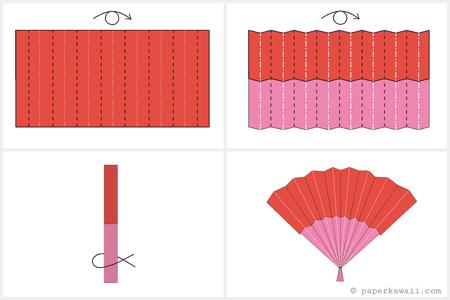 Easy DIY Origami Fan Diagram