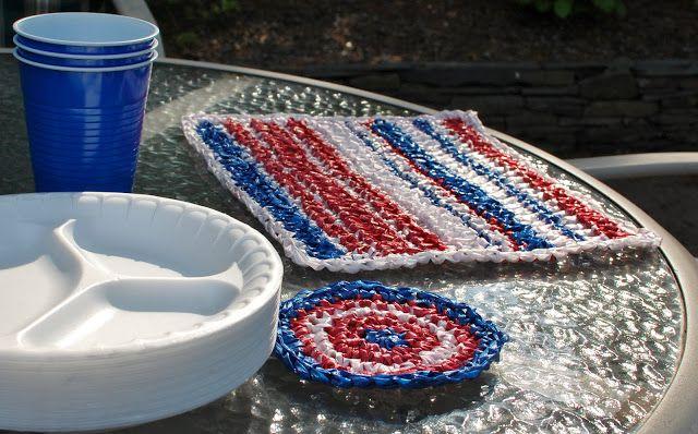 Plarn Coasters Free Crochet Pattern