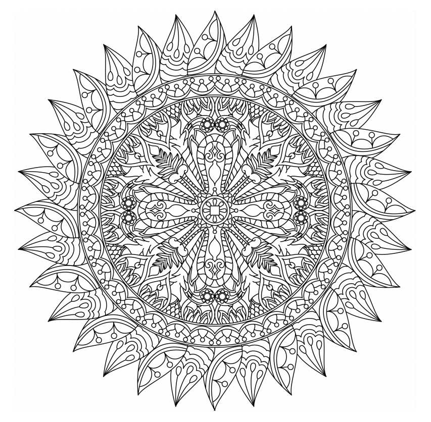 free printable coloring pages mandala designs | Free, Printable Mandala Coloring Pages for Adults