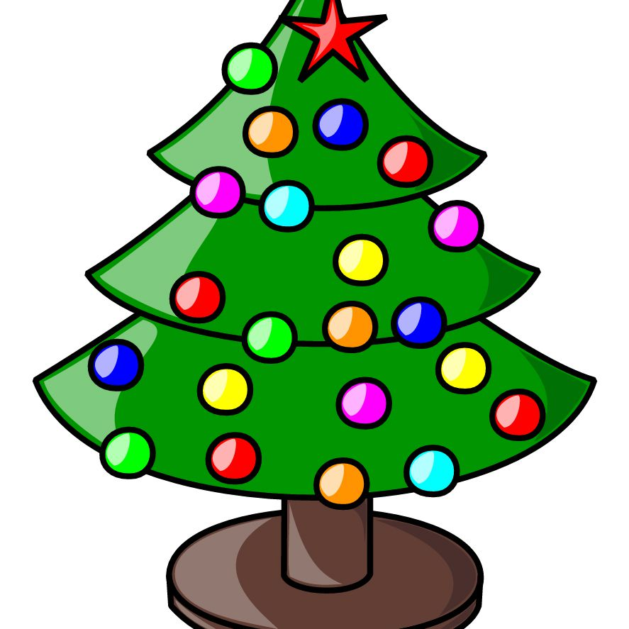 free christmas clip art at openclipart a decorated christmas tree