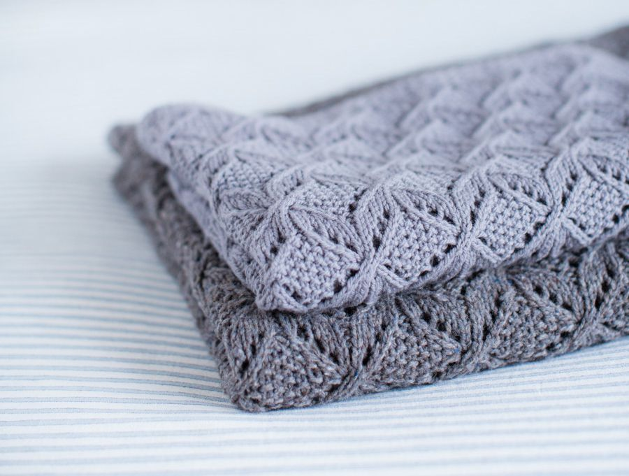 Umaro Lace and Cable Blanket Pattern