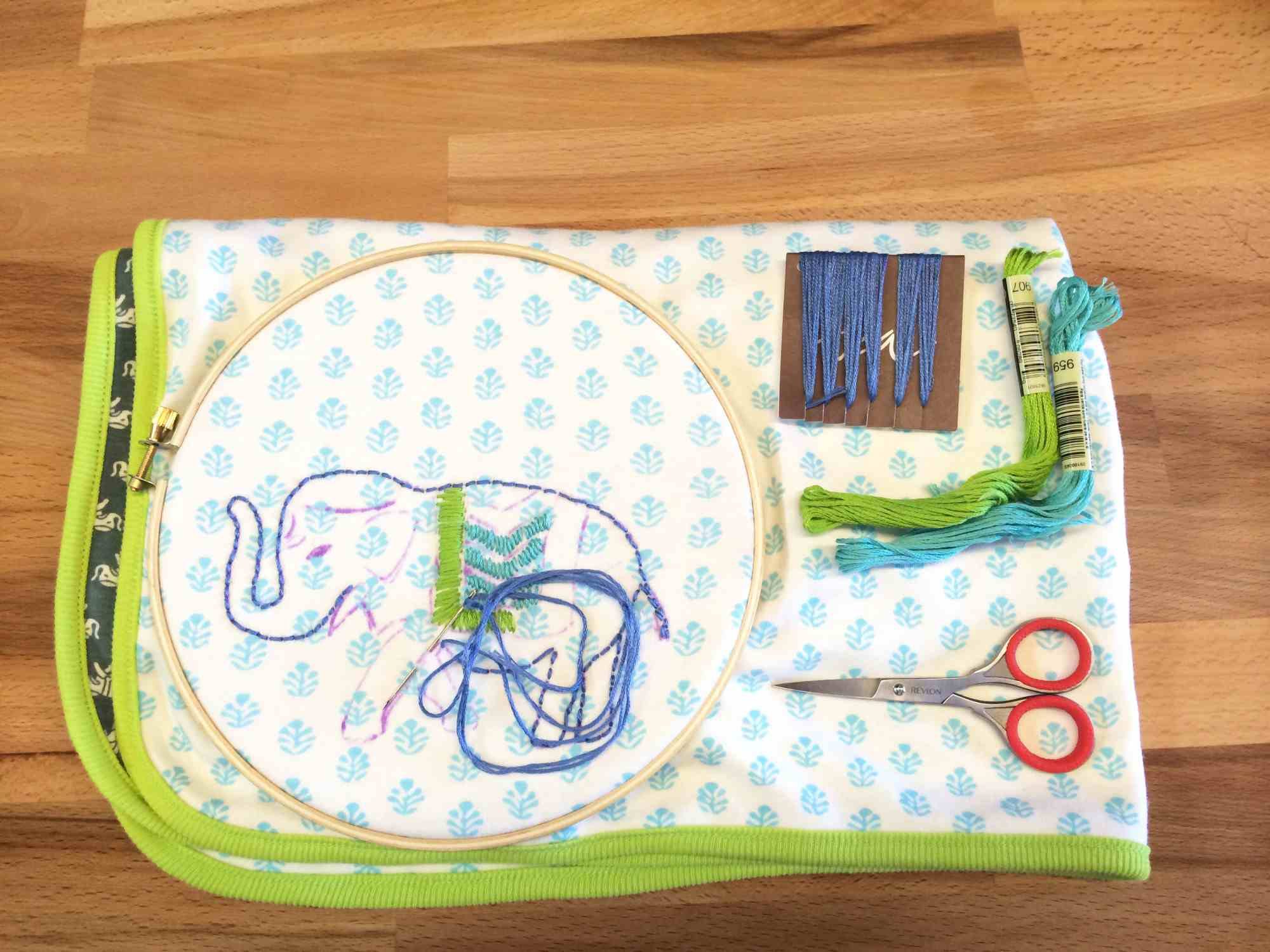 DIY Kantha Embroidery Baby Blanket