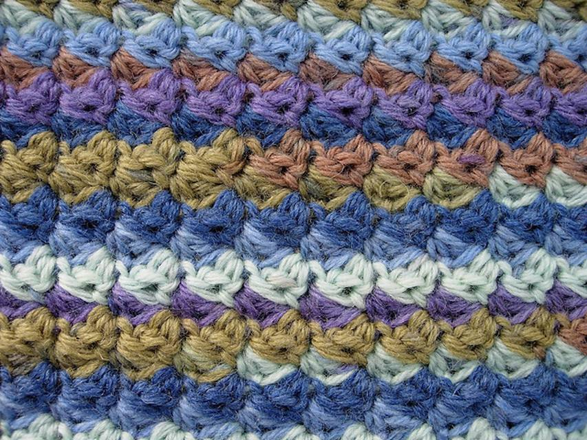 Modified Moss Stitch (crochet)