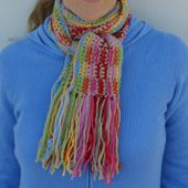 Fringe Makes a Nice Finish for Crocheted or Knitted Scarves.