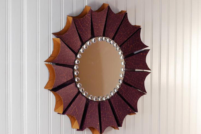 Diy Round Sunburst Mirror Papercraft