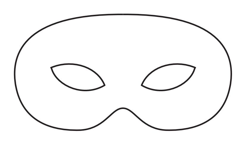 A Men S Mardi Gras Mask Template