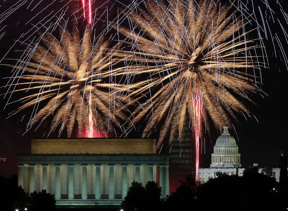 The Nation's Capitol Celebrates 4th of July With Fireworks