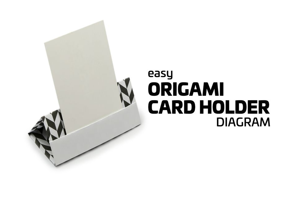 Easy origami card holder
