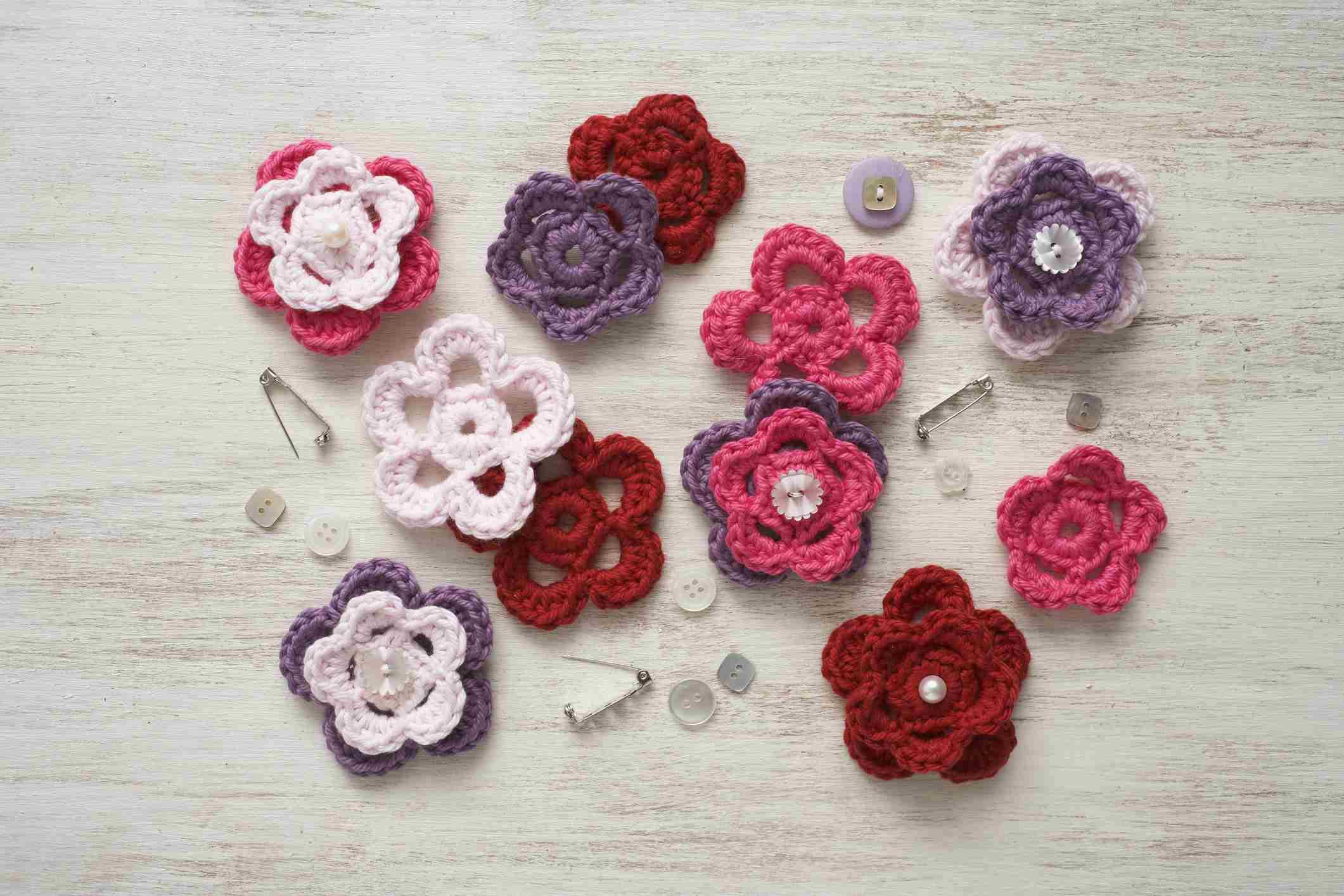 Easy crochet patterns for free crochet flowers izmirmasajfo