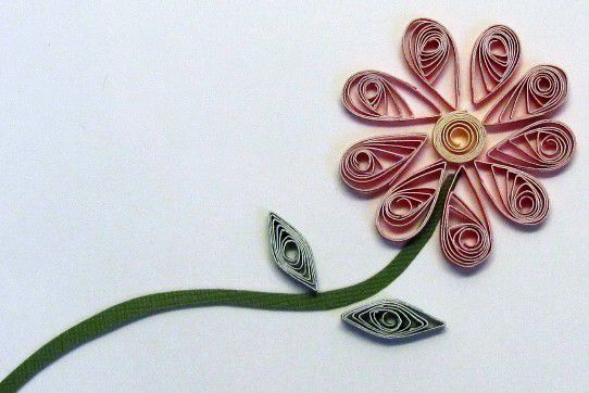 How to make flowers for scrapbooking and cards how to make flowers with rolled paper strips mightylinksfo