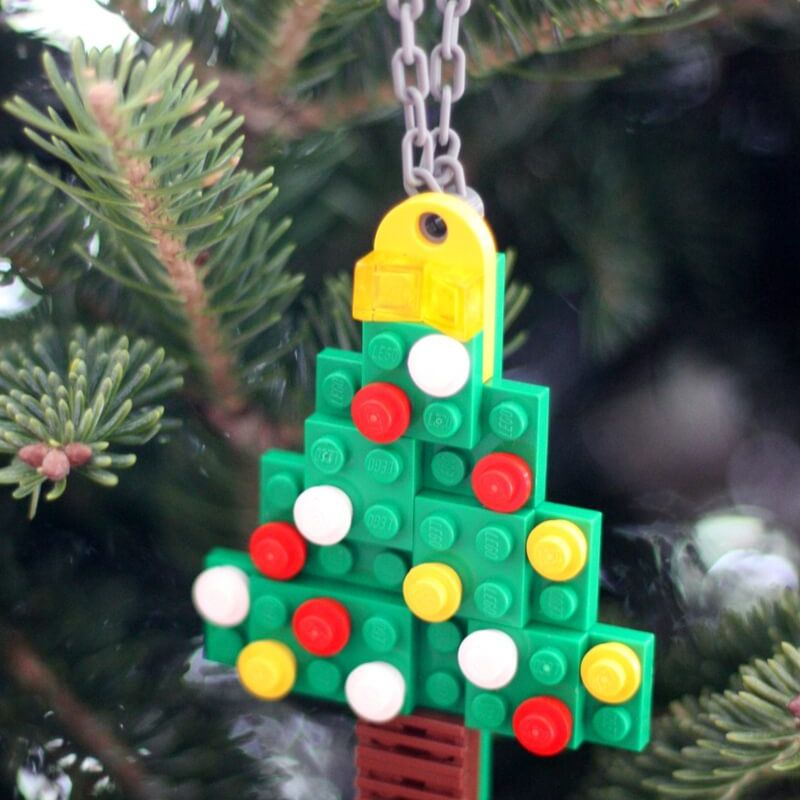 Simple Lego Christmas Ornaments For Kids