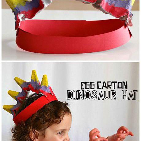egg carton dinosaur craft