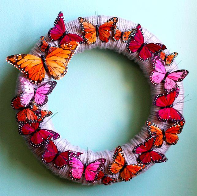 butterfly wreath tututorial