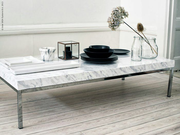 DIY Marble Contact Paper Coffee Table