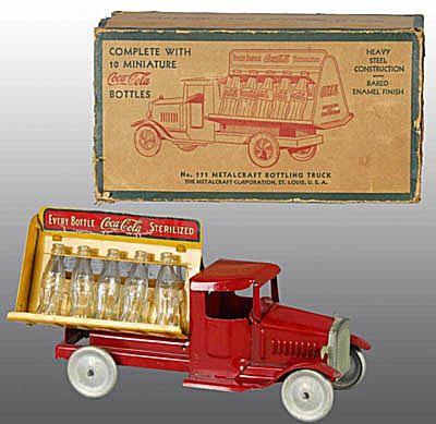 Pressed Steel Metalcraft Coca-Cola Truck with Box