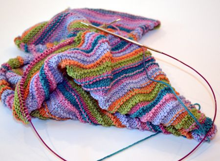 Knitting Flat With Circular Needles