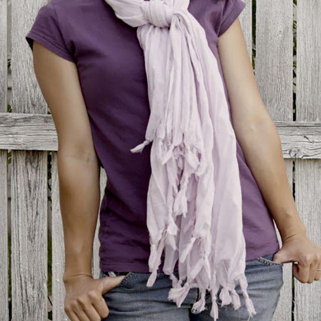 diy no sew scarf