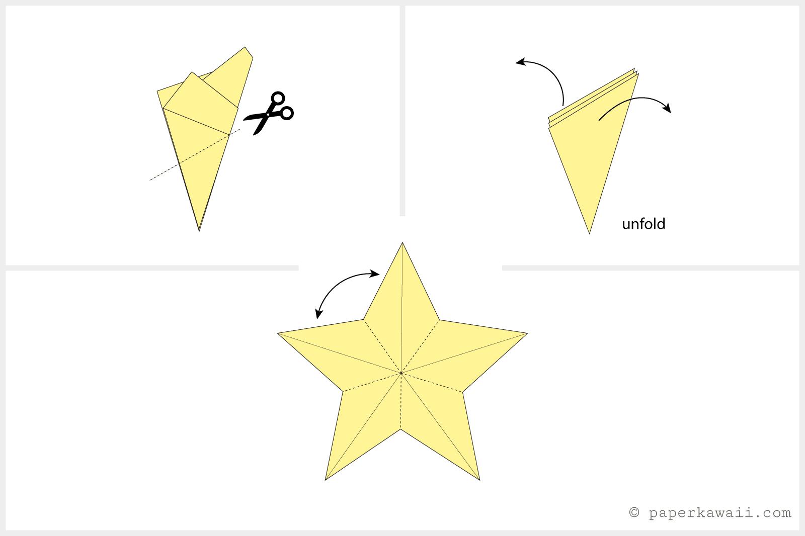easy origami star 04