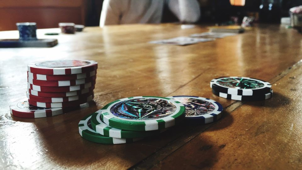 Gambling Chips On Table