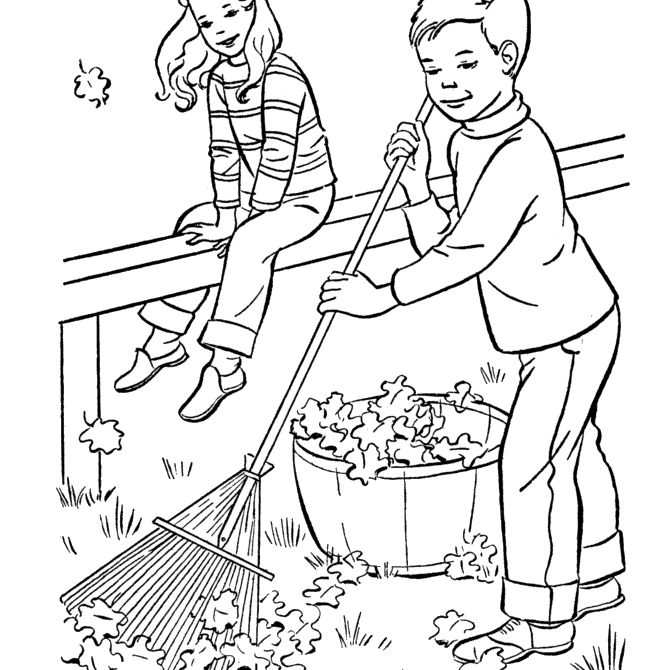 coloring pages children helping - photo#37