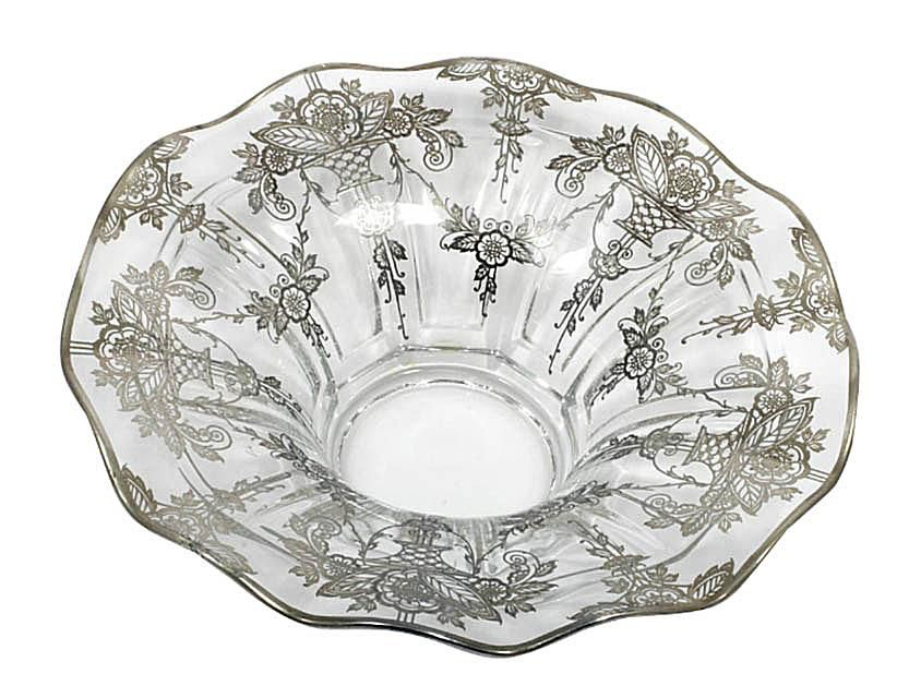 Duncan-Miller Whitney Bowl with Silver Overlay