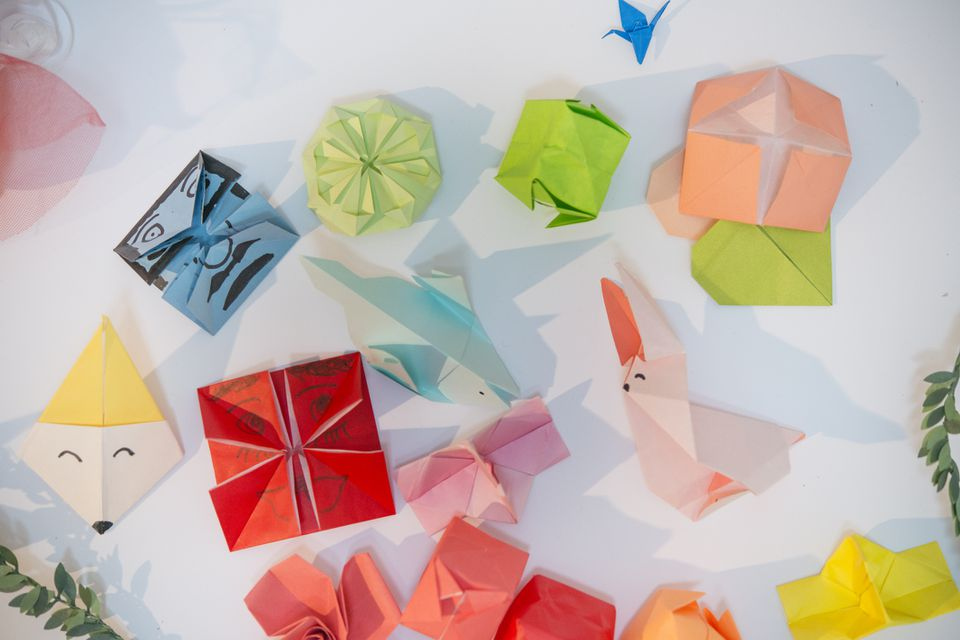 Colorful origami collection
