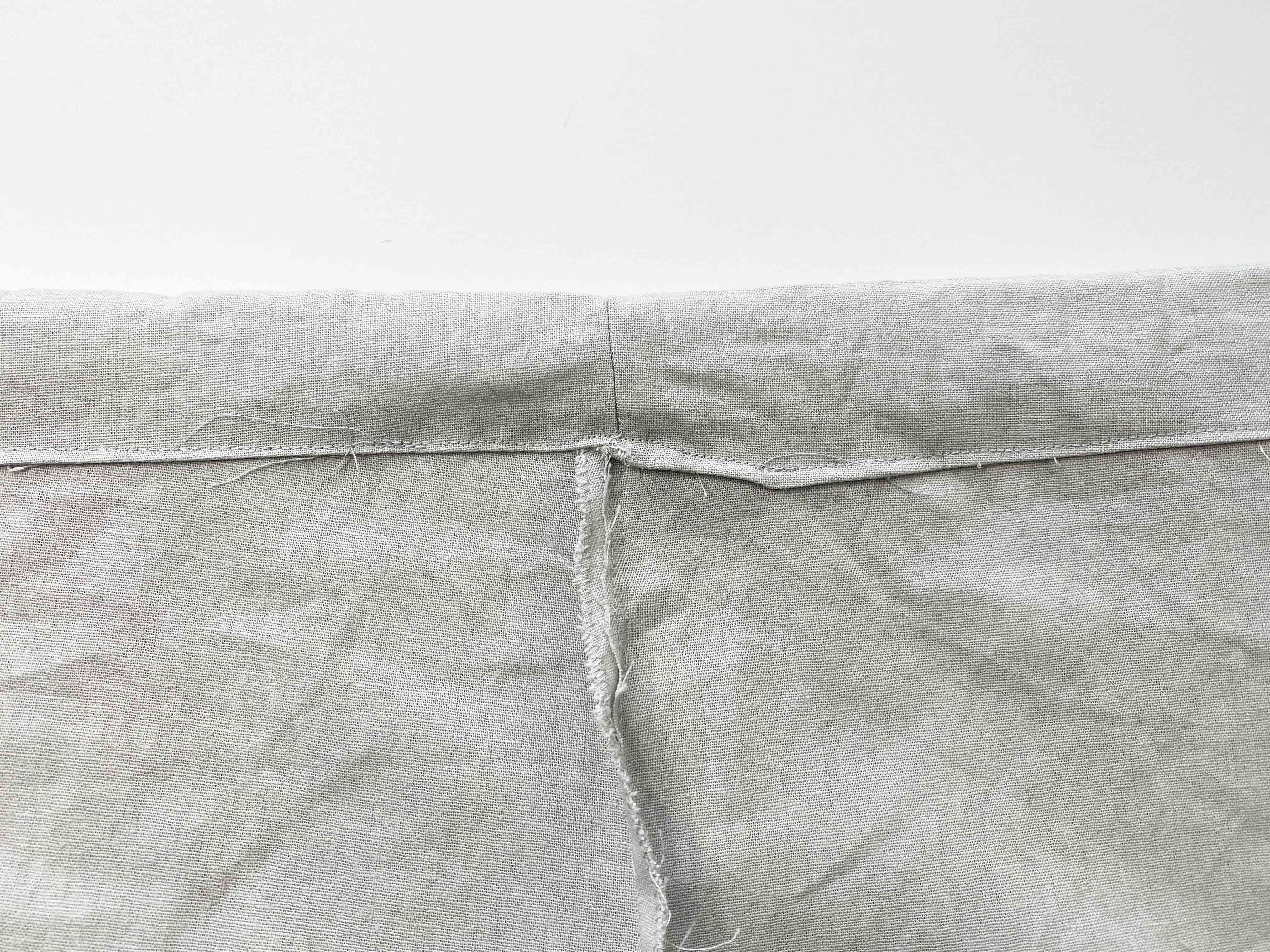 A sewn up waistband