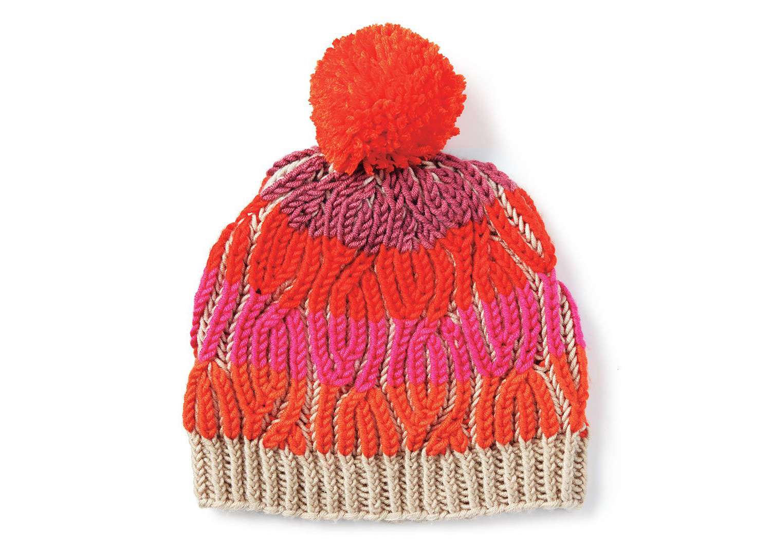 Brioche Cables Hat Knitting Pattern