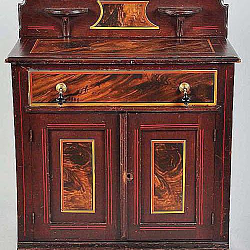 Wooden Victorian Wash Stand