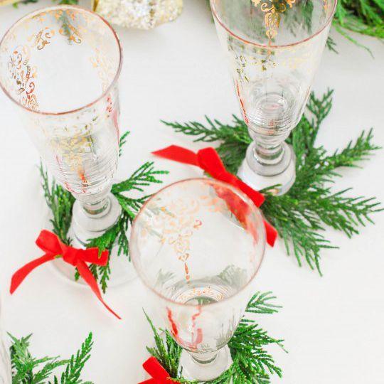 DIY Glass Mini Wreaths