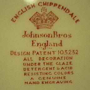 Johnson Bros. English Chippendale Mark