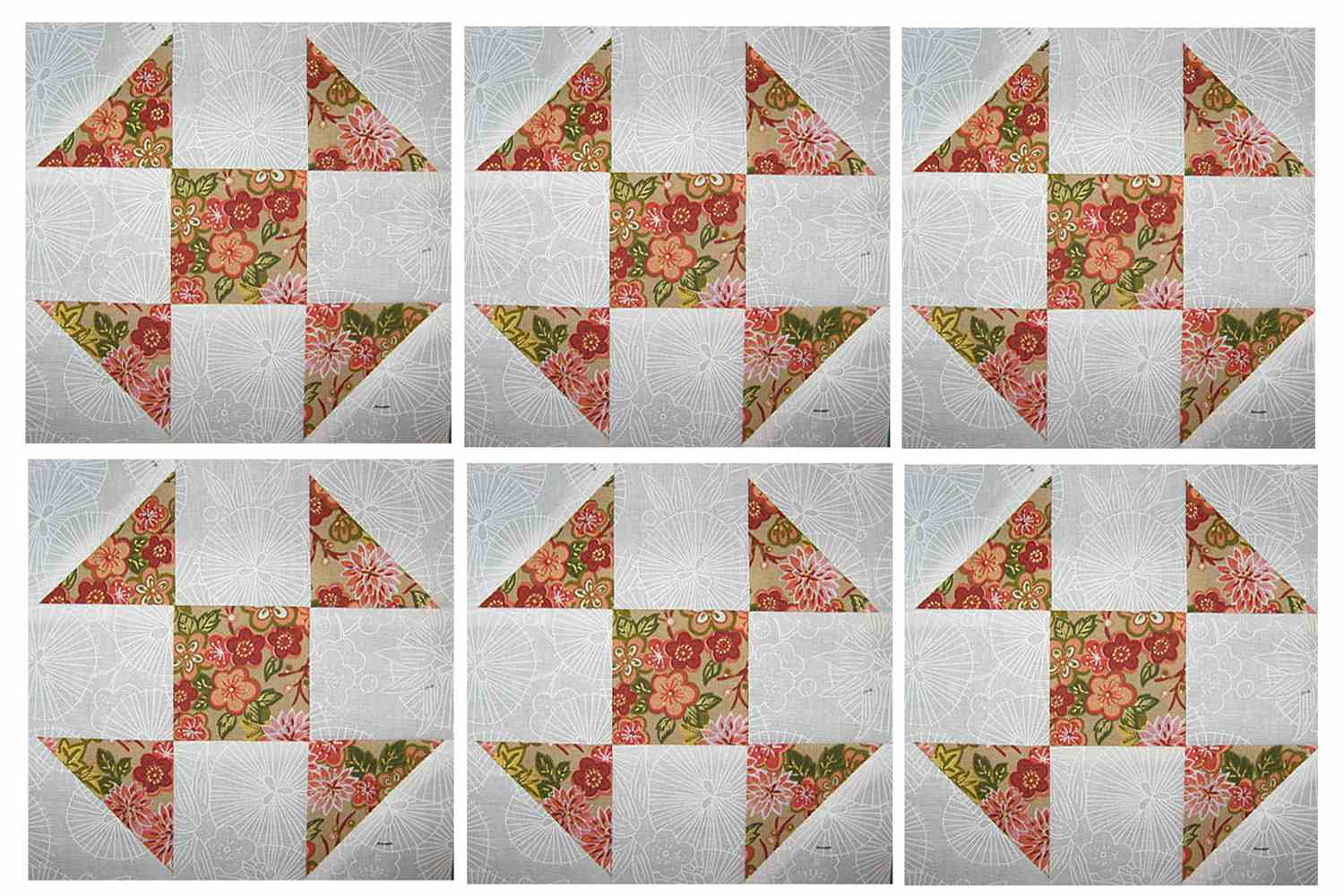 6 shoo fly quilt block pattern perfect for beginners