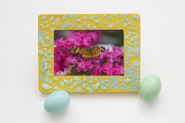 Colorful Eggshell Art Picture Frame