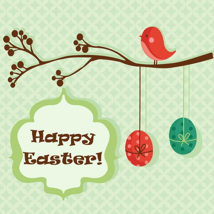 Retro modern Easter card