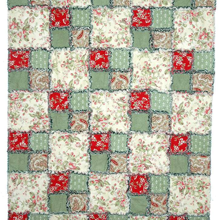 Easy Four Patch Rag Quilt Pattern