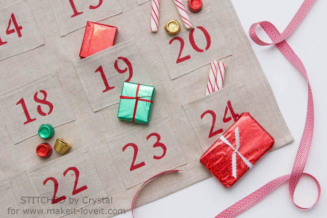 Simple Sewn Advent Calendar