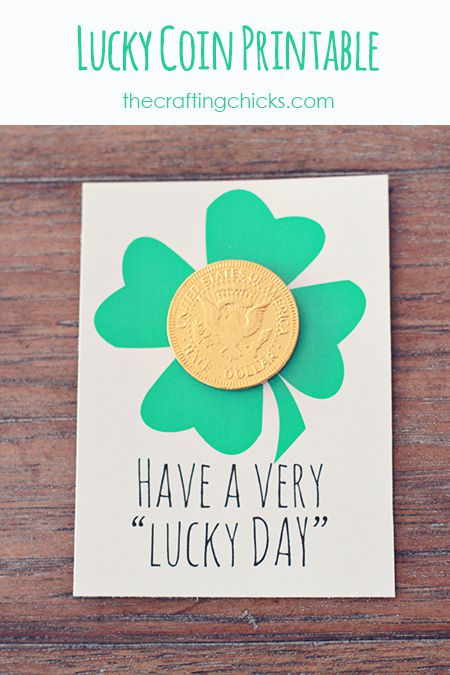 """A St. Patrick's Day card that says """"Have a Very Lucky Day""""."""