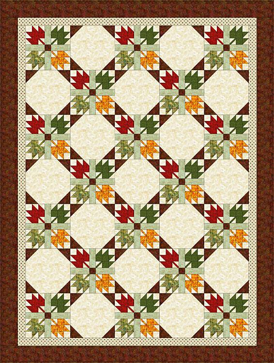 Maple Leaf quilt pattern