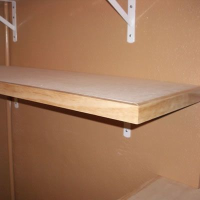 Installed Utility Shelf