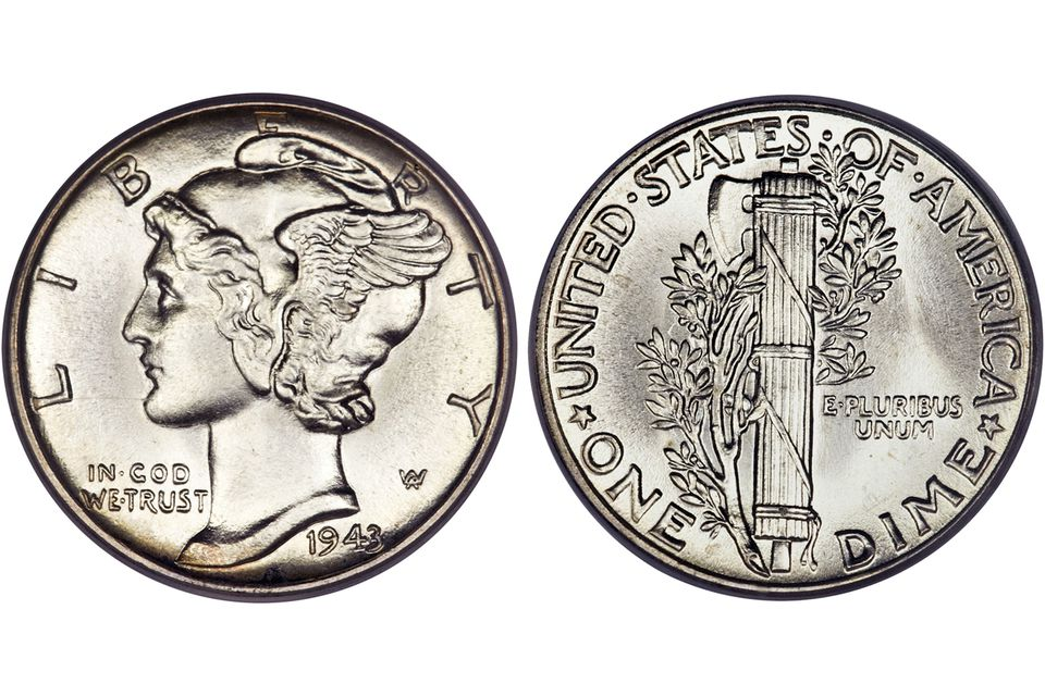 Mercury or Winged Liberty Head Dime (1916-1945)