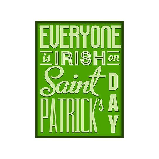 A subway style St Patricks Day clip art image